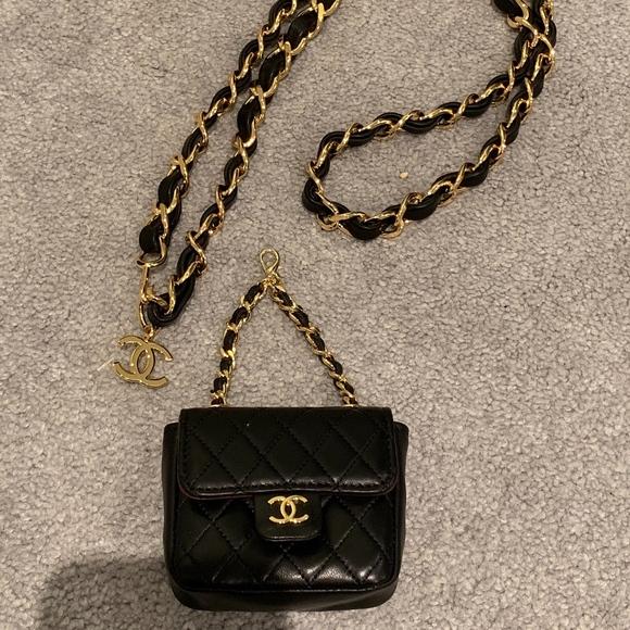 Chanel Handbags - *AUTHENTICATED* Chanel Vintage Micro Mini Belt Bag